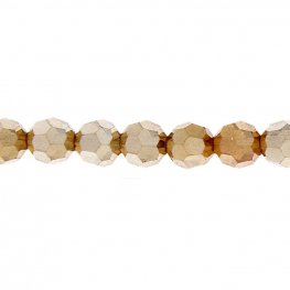 Preciosa Machine Cut Crystal - 5mm Faceted Round - Golden Flare (32)