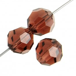 Preciosa Machine Cut Crystal - 5mm Faceted Round - Light Burgundy (32)