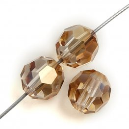 Preciosa Machine Cut Crystal - 6mm Faceted Round - Celsian Halfcoat (36)
