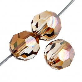 Preciosa Machine Cut Crystal - 6mm Faceted Round - Venus (36)