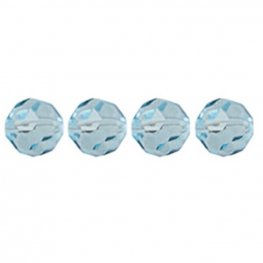 Preciosa Machine Cut Crystal - 8mm Faceted Round - Aqua Bohemica (36)