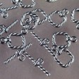 Toggle Clasp - Square Knot - Gunmetal