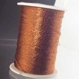 Stringing - 1mm Wire Lace Ribbon - Rust (Spool)