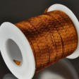 Stringing - 6mm Wire Lace Ribbon - Rust (yard)