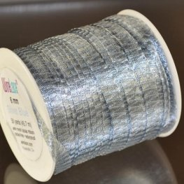 Stringing - 6mm Wire Lace Ribbon - Silver Blue (yard)