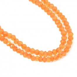 Stone Beads - 3mm Faceted Rondelle - Carnelian (strand)