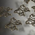 Findings - Link - Filigree Butterfly de Swirl - Antique Brass