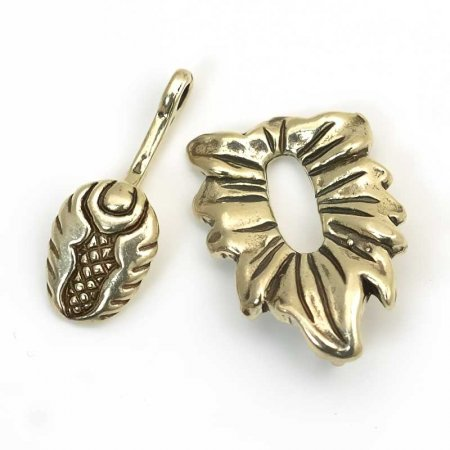 Hook and Eye Clasp - Beetle in the Garden - Sterling Manager Special