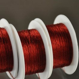 Stringing - 1mm Wire Lace Ribbon - Red (Yard)