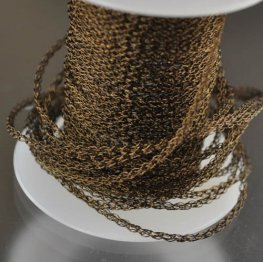 Silver Silk - Knitted Wire - 3-Needle Round - Vintage Bronze (1 foot)