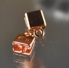 Silver Silk - Knitted Wire - Double End Cap - Bright Copper