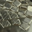 Metal Beads - 20mm Brushed Criss Cross Square - Brushed Silver