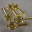 Findings - 50mm Decorative Key Pendant - Antique Gold