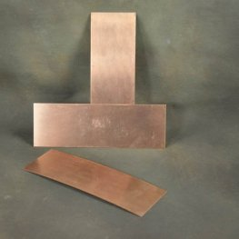 Metal Sheet - 2x6in Rectangle Bracelet Blank - Copper