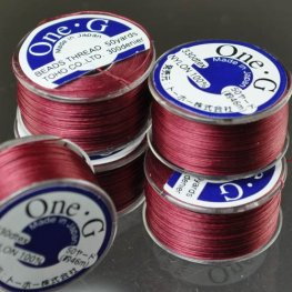 Thread - Toho One-G Beading Thread - Burgundy (Spool)