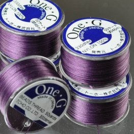 Thread - Toho One-G Beading Thread - Purple (Spool)