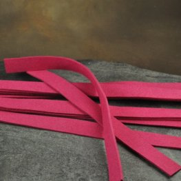 Accessories - Narrow Ultra Suede Cuff Strip - Dark Fuchsia