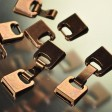 Findings - 10mm Flat Leather - Flat Leather Hook Clasp - Antiqued Copper