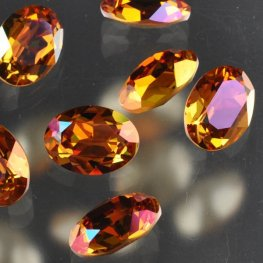 Swarovski Fancy Stone - 13x18mm Faceted Oval (4120) - Crystal Summer Blush