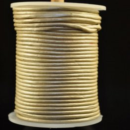 Stringing - 2mm Leather Cord - Ivory (1 Metre)