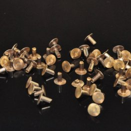 Findings - 3.5mm Nail Head Rivet - Natural Brass (20)