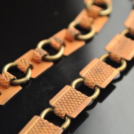 Chain - Glue on Square Link Chain - Copper (1 link)