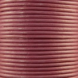Stringing - 2mm Leather Cord - Pretty in Pink (1 Metre)