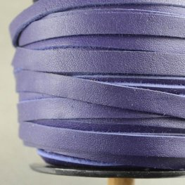 Leather Lacing - 5mm Flat Leather Lacing - Very Violet (1 meter)