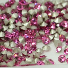 Swarovski - Rhinestones - pp17 Chaton (Article 1028) (Foiled) - Rose (1 gram)