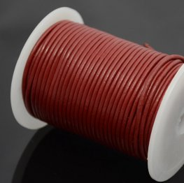 Stringing - 2mm Leather Cord - Brick Red (1 Metre)
