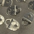 Findings - 10mm Flat Leather - R and R Strap Tip - Antiqued Pewter