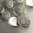 Stamping / Riveting - Spirals Snap Cap - Antiqued Pewter
