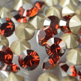 Swarovski - Rhinestones - ss34 Xilion Chaton (Article 1028) (Foiled) - Crystal Red Magma
