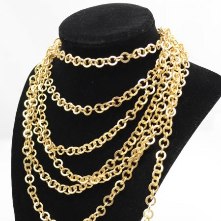 Chain - 7.5mm Couture Flat Round Chain - Matte Gold (Foot)