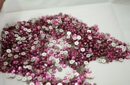 Swarovski - Sew-on Stone - 3mm Flat Round (3128) - Rose (Foiled) (72)