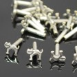 Decorative Rivet - Cat - Antiqued Silver (10)