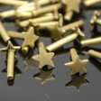 Decorative Rivet - Star - Antiqued Brass (10)