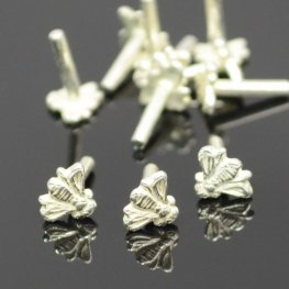 Decorative Rivet - Bee - Silverplated (10)