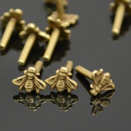 Decorative Rivet - Bee - Antiqued Brass (10)