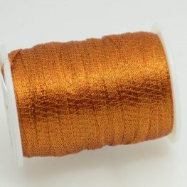 Stringing - 3mm Wire Lace Ribbon - Rust (Yard)