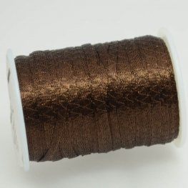 Stringing - 3mm Wire Lace Ribbon - Chocolate (Yard)