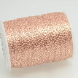 Stringing - 3mm Wire Lace Ribbon - Blush (Yard)