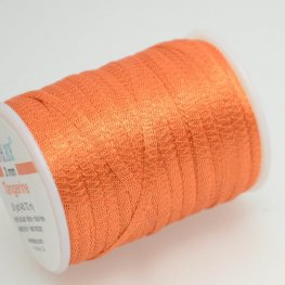 Stringing - 3mm Wire Lace Ribbon - Tangerine (Yard)