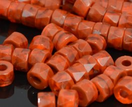 Firepolish - 8x6mm Tri-Cut Roller Beads - Hyacinth Brown (strand 25)