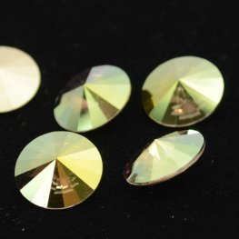 Swarovski Rhinestones - 14mm Rivoli Cut (1122) - Crystal Iridescent Green
