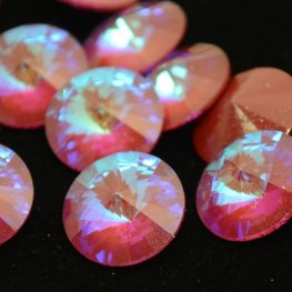 Swarovski Rhinestones - 14mm Rivoli Cut (1122) - Ultra Ruby