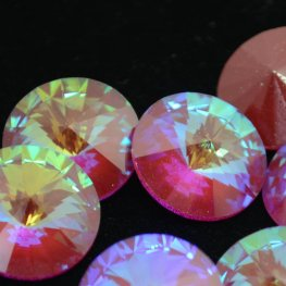 Swarovski Rhinestones - 18mm Rivoli Cut (1122) - Ultra Ruby