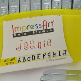 ImpressArt Stamps - 4mm Stamp/Punch Collection - Jeanie - UPPERCASE Letters (Set)