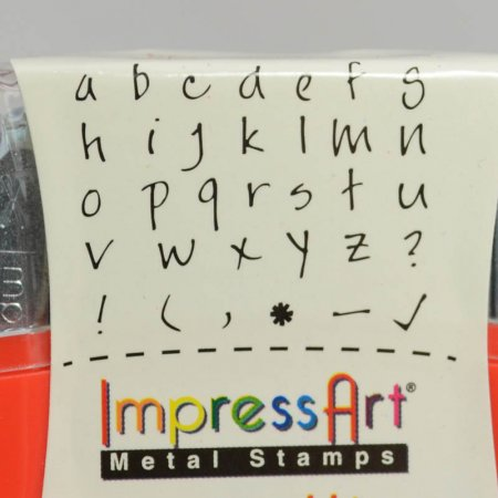 ImpressArt Stamps - 2.5mm Stamp/Punch Collection - Scarletts Signature - lowercase Letters / Symbols (Set)