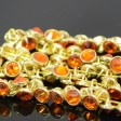 Crystaletts - 4mm Rhinestone Button - Sun / Gold (20)